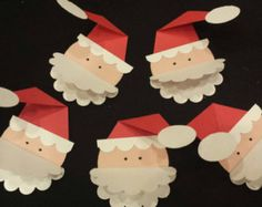 SALE Christmas Gift Tags Santa set of 5 by CardsbyDeanna on Etsy