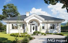 Flat House Design, House Outside Design, Front Porch Design, Simple House Design, Florida House Plans, Free House Plans, Modern Bungalow House, Beautiful House Plans, House Wiring