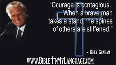 we at www.bibleinmylang... love and pray for the efforts of BGEA! Hope this quote from Rev.Billy Graham is an encouragement to you, and your loved ones. Please, share with others! Thanks!
