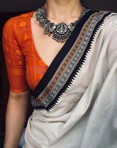 From Indian Movies to Street: Saree Styles - Saree Styles Sari Design, Sari Blouse Designs, Shirt Designs, Saree Jacket Designs Latest, Diy Design, Trendy Sarees, Stylish Sarees, Ethnic Sarees, Indian Sarees