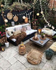 Small Backyard Design, Small Backyard Landscaping, Small Patio, Backyard Ideas, Backyard Pavers, Landscaping Blocks, Flagstone Patio, Small Yards, Backyard Patio Designs