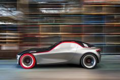 This is the new Opel GT concept built to be the sports car of the future featuring a rear-wheel drive platform, lightweight construction and a bare-essentials only cabin for urban dwellers. It is clear that Opel Opel Gt Concept, Concept Cars, Mercedes Amg, Car Magazine, Futuristic Cars, Rear Wheel Drive, Car And Driver, General Motors, Automotive Design