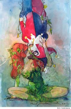 Harley Quinn and Poison Ivy by Bill Sienkiewicz from the collection of George 1