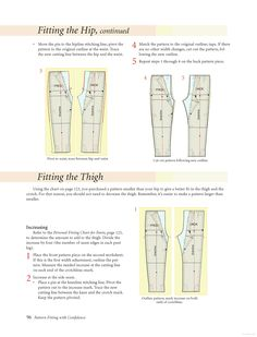 Pattern Fitting With Confidence - Nancy Zieman - Google Book- adjusting the hipline for pants