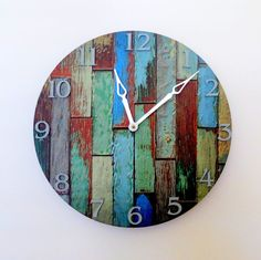 barn wood clock | Cottage Chic Wall Clock, Home Decor, Decor and Housewares, Barn Wood ...