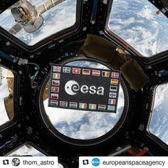 Happy birthday @europeanspaceagency!  #Repost @europeanspaceagency (@get_repost)  Merci Thomas! #happybirthdaytous #Repost @thom_astro (@get_repost)  Happy Birthday European Space Agency! On 30 May 1975 the @europeanspaceagency Space Agency convention was signed. / La convention de lESA - European Space Agency a été signée le 30 mai 1975 à Paris - Joyeux anniversaire ! / #happybirthday #space #internationalspacestation #europe #patch