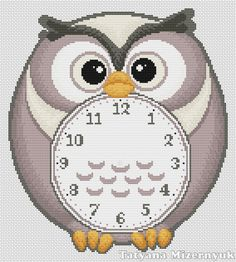 Hey, I found this really awesome Etsy listing at https://www.etsy.com/listing/208132536/cross-stitch-pattern-clock-owl