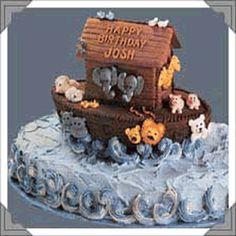 Noah's Ark Cake from a football pan