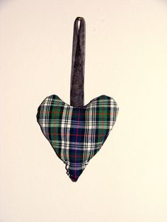 MacKenzie Tartan Lavender Scented Heart