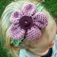 Amigurumi Flower Headband