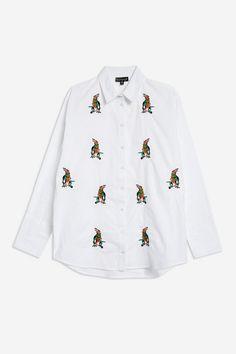 Dinosaur Embroidered Shirt - 100 Blouses At £20 - Clothing - Topshop