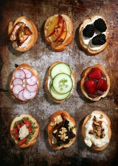 Bruschetta makes great appetizer with variety of crostini toppings