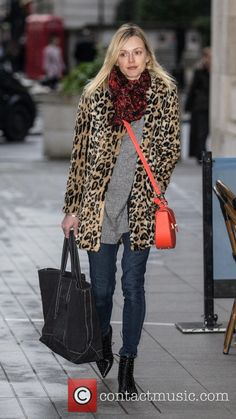 Fearne Cotton arriving at the BBC Radio 1 studios