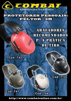 Protetores Pessoais: Abafadores Peltor / 3M www.combatonline.com.br