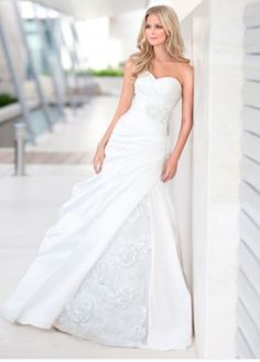 Dolce Satin & Organza A-line Strapless Sweetheart Wedding Dress