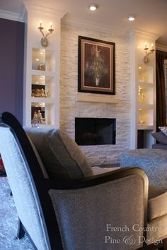 Living Room Design and Remodel by FrenchCountryPineDesign.com