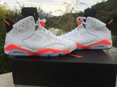 Authentic Air Jordan 6 White Infrared Cheap Jordan Shoes e9a7881ea