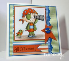 A little late this week, but it's time again for our Featured Spotlight Cards from last Saturda. Pirate Images, Paper Design, Congratulations, Badge, Scrap, Boutique, Card Ideas, Cute, Cards