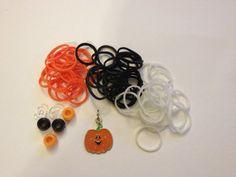 Halloween Pumpkin Rainbow Loom Bracelet by