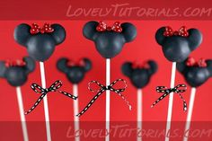 Mickey/Minnie cake pop tutorial. Leave them here or it shows how to do the faces.