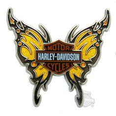 Harley-Davidson® Pin Yellow Butterfly, Coryann!!
