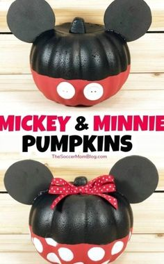 Mickey And Minnie Mouse Dollar Tree Halloween Pumpkins – Home and Garden #halloween #halloweendecoration #halloweendecor