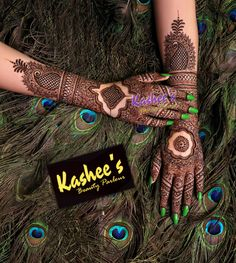 Beautiful and Gorgeous henna design by kashee 's beauty parlour