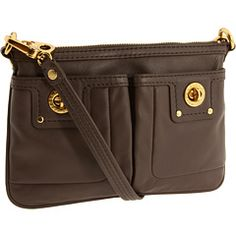 Mark by Marc Jacobs cross-body. A terrific shape and size for a fanny pack. I like the gold detail, removable/adjustable straps and easy access pockets.