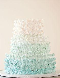 Blue ombre cake  (more subtle color)