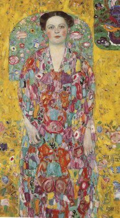 Gustav Klimt, Portrait of Eugenie Primavesi, c.1913-14