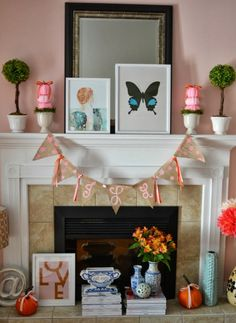 Julie Leah: A life & style blog // Pink Fall Mantle