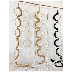 Macrame Art, Macrame Design, Rope Braid, Weaving Textiles, Fabric Jewelry, Hanging Art, Gold Necklace, Knitting, Blink Blink