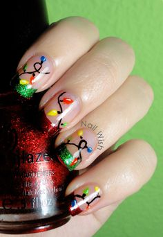 Nail Wish: Reto Oh Oh Oh! #3 y Winter Holiday Challenge #3: Garlands and lights!