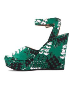 Marni wedges in duck print #emerald