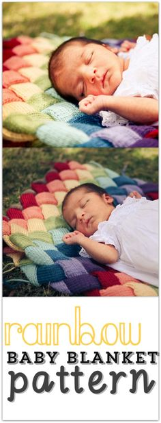Double Rainbow Entrelac Baby Blanket Pattern. $4.00, via Etsy.