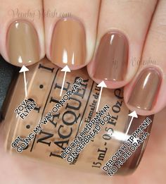 OPI Going My Way Or Norway? Comparison | Peachy Polish