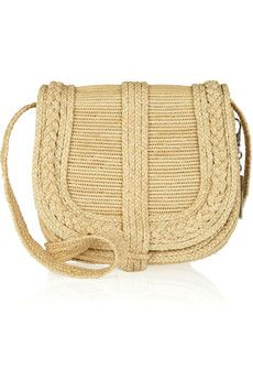 @net-a-porter #Ralph #Lauren woven straw crossbody bag with it's u silhouette great braided woven details, each summer it will wear to your liking never get old
