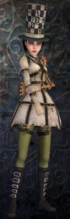Alice: Madness Returns, mad hatter costume