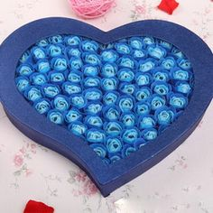 100 Rose Soap Flowers Blue.  For Only $69.99