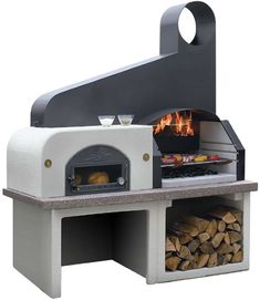 Nowadays, it is really easy to find a grill with any model, color and size. The difference between a barbeque and a brazier is the neatness and functionality of the barbeques Brick Oven Outdoor, Outdoor Stove, Pizza Oven Outdoor, Outdoor Fire, Outdoor Cooking, Outdoor Living, Outdoor Decor, Barbacoa Jardin, Architecture 3d