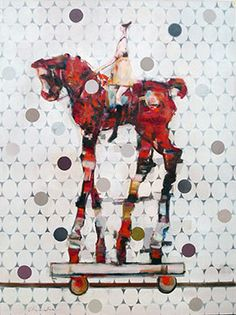 Red Filly - Painting by Pascale Chandler