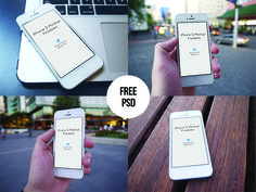 Free iPhone Mockups - PSD #resource #free #mockup #photoshop #iPhone