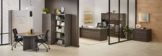 Inspiration for your next office makeover. The striking design of our Hyperwork collection extends throughout the entire office for a cohesive look. Office Furniture Design, Modular Furniture, Cheap Furniture, Online Furniture, Standing Desk Chair, Best Standing Desk, Ikea Office, Office Desks, Furniture Doctor