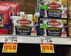 Mueller's Pot-Sized Pasta por tan solo $0.25 en Kroger!
