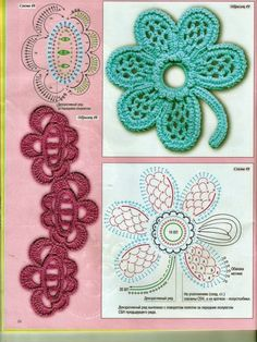 Irish Crochet motives  Gunadesign Handmade Design Barn