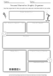 personal narrative graphic organizer story map narr narrative