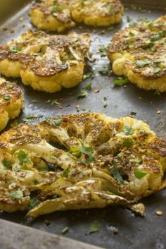 Za'atar Crusted Cauliflower Steaks