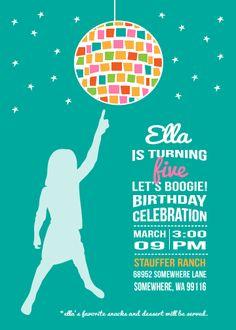 Dance Birthday Party Invitation!