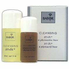BABOR - Hy-Oil + Phytoactive Base Travel Set by Babor. $12.00. Phytoactive Base for dry skin What could be mare refreshing than the wonderful feeling of skin that can breath freely? BABOR's unique bi-phase cleansing system pampers your complexion morning and night with its gentle, but thorough, deep pore action. BABOR Hy-Oil + Phytoactive Base Travel Set includes: BABOR Hy-Oil (50 ml) BABOR Phytoactive Base (30 ml) Net Weight: Please see individual items
