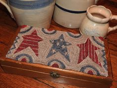 The Old Tattered Flag ~~ For the {Red-White & Blue} ...STARS punch needle design!